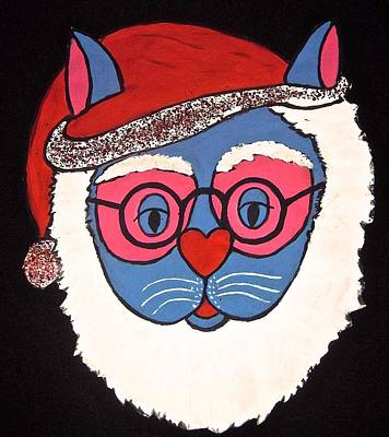 Painting - Santa Claws Cat by Stephanie Moore