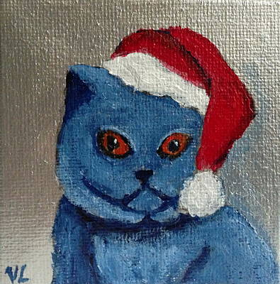 Painting - Santa Claws by Victoria Lakes