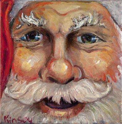 Santa Closeup Art Print by Sheila Kinsey
