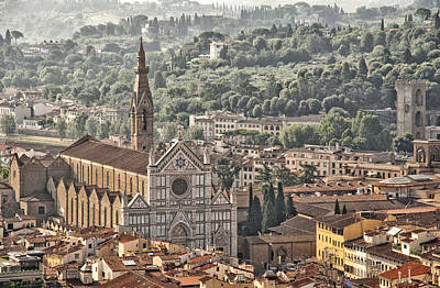 Photograph - Santa Croce From The Top Of The Duomo by Melany Sarafis