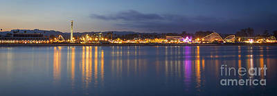 Photograph - Santa Cruz Beach Boardwalk @ Dusk by Theresa Ramos-DuVon