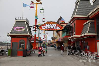 Roller Coaster Photograph - Santa Cruz Beach Boardwalk California 5d23628 by Wingsdomain Art and Photography