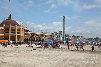 Roller Coaster Photograph - Santa Cruz Beach Boardwalk California 5d23756 by Wingsdomain Art and Photography