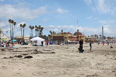 Roller Coaster Photograph - Santa Cruz Beach Boardwalk California 5d23760 by Wingsdomain Art and Photography