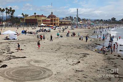 Roller Coaster Photograph - Santa Cruz Beach Boardwalk California 5d23778 by Wingsdomain Art and Photography