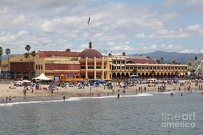Roller Coaster Photograph - Santa Cruz Beach Boardwalk California 5d23784 by Wingsdomain Art and Photography