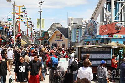 Roller Coaster Photograph - Santa Cruz Beach Boardwalk California 5d23848 by Wingsdomain Art and Photography