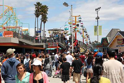 Roller Coaster Photograph - Santa Cruz Beach Boardwalk California 5d23849 by Wingsdomain Art and Photography