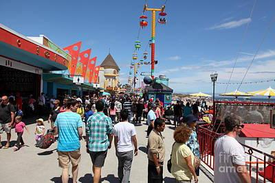 Roller Coaster Photograph - Santa Cruz Beach Boardwalk California 5d23865 by Wingsdomain Art and Photography