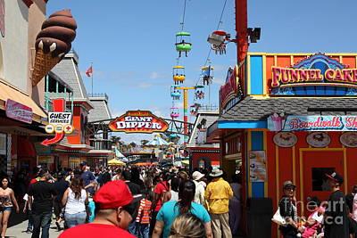Roller Coaster Photograph - Santa Cruz Beach Boardwalk California 5d23866 by Wingsdomain Art and Photography