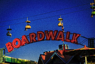 Happy Photograph - Santa Cruz Boardwalk 4 by Scott Campbell