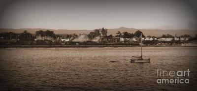 Art Print featuring the photograph Santa Cruz Boardwalk Sepia 2 by Garnett  Jaeger
