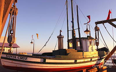 Photograph - Santa Cruz Boat by Theresa Ramos-DuVon