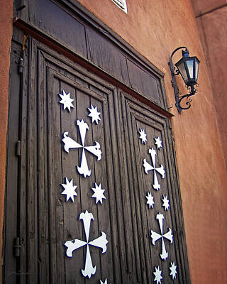 Photograph - Santa Cruz De La Canada Mission Doors by Julie Magers Soulen