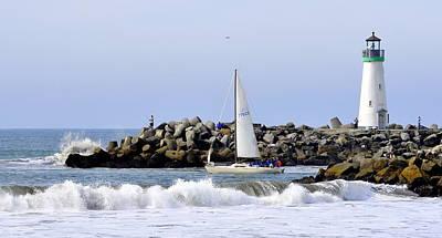 Photograph - Santa Cruz Harbor by AJ  Schibig