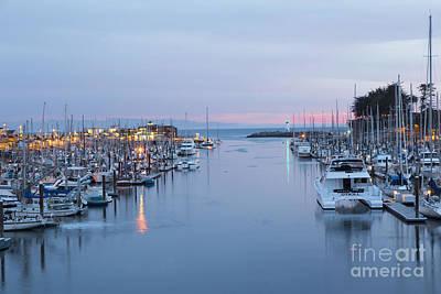 Santa Cruz Harbor At Dusk Art Print by Theresa Ramos-DuVon