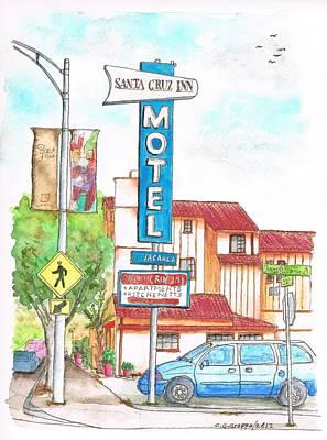 Santa Cruz Inn Motel In Riverside - California Original