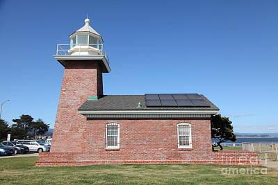 Santa Cruz Lighthouse Surfing Museum California 5d23942 Art Print by Wingsdomain Art and Photography