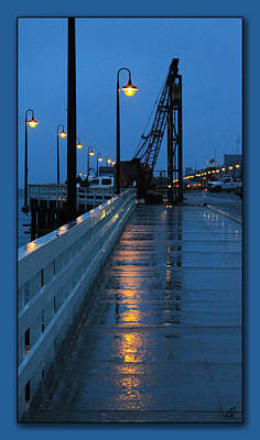 Photograph - Santa Cruz Wharf At Dusk by Chris Thomas