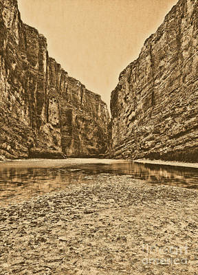Photograph - Santa Elena Canyon Big Bend National Park Texas Rustic Digital Art by Shawn O'Brien