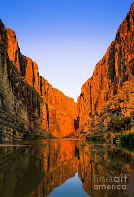 Rio Grande River Photograph - Santa Elena Canyon by Inge Johnsson