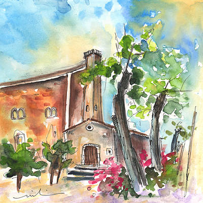 Abandoned Houses Drawing - Santa Eulalia 02 by Miki De Goodaboom