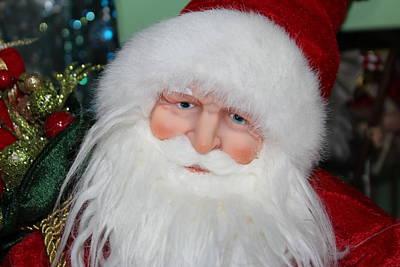 Wish List Photograph - Santa Face by Cynthia Guinn