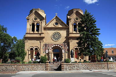 Photograph - Santa Fe - Basilica Of St. Francis Of Assisi by Frank Romeo