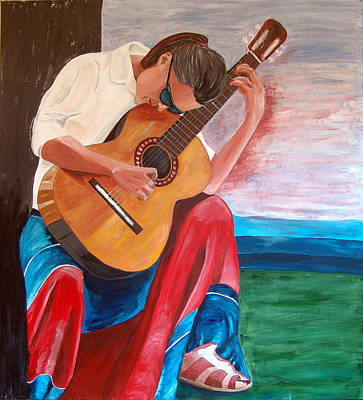 Painting - Santa Fe Blues After Picasso by Kevin Callahan