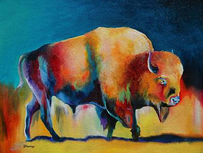 Santa Fe Painting - Santa Fe Buffalo 2 by Robert Pankey