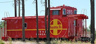 Photograph - Santa Fe Caboose by Pamela Walrath