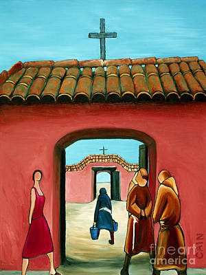 Painting - Santa Fe Church by William Cain
