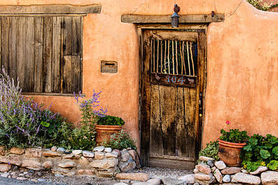 Photograph - Santa Fe Door by Ben Graham