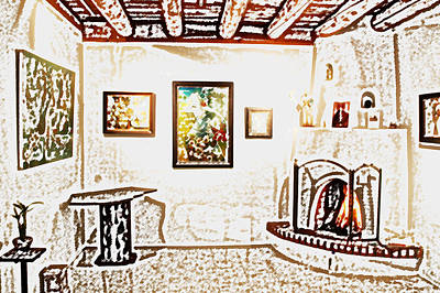 Digital Art - Santa Fe Galley by Kathleen Stephens