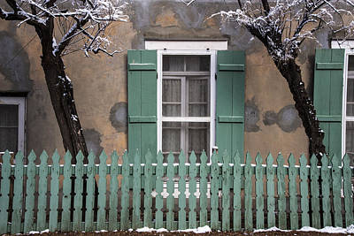 Photograph - Santa Fe Green Windows And Fence by Dave Dilli