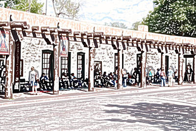 Digital Art - Santa Fe Inn Of The Governors  by Kathleen Stephens