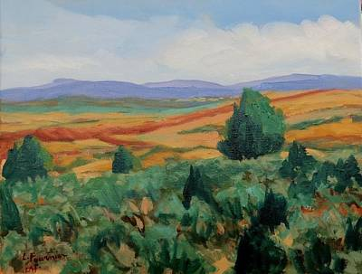 Painting - Santa Fe Landscape by Liliane Fournier
