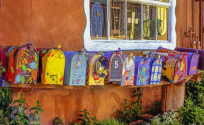 Santa Fe Mailboxes 2 Art Print by Wendell Thompson
