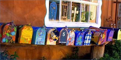 Santa Fe Mailboxes Art Print by Wendell Thompson