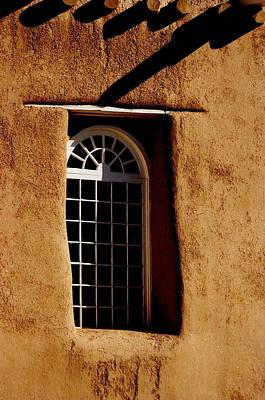 Santa Fe Nm Window Art Print by Jacqueline M Lewis
