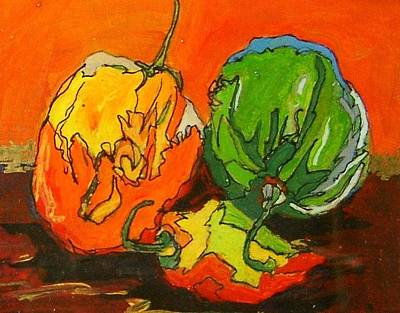 Santa Fe Peppers Art Print