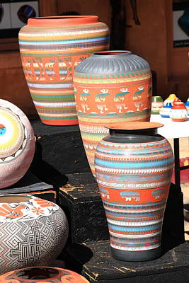 Photograph - Santa Fe Pottery by Frank Romeo