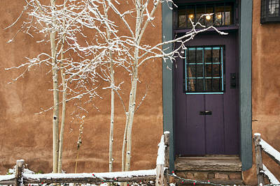 Santa Fe Purple Door Art Print