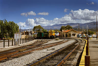 Photograph - Santa Fe Rail Road by John Johnson