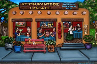 Hispanic Art Painting - Santa Fe Restaurant Tyler by Victoria De Almeida