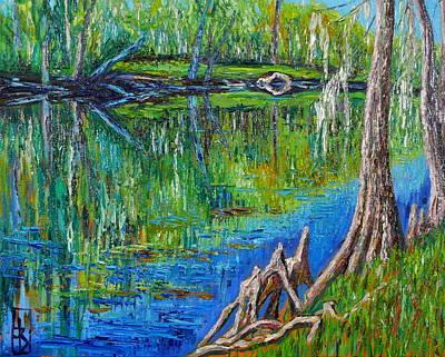 Santa Fe River At Rum Island Original by Linda J Bean