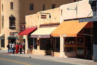 Photograph - Santa Fe Shops by Frank Romeo