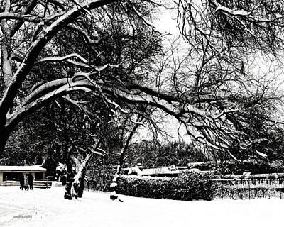 Digital Art - Santa Fe Snow Day by Rhonda Strickland