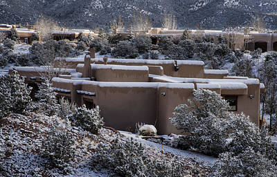 Santa Fe Photograph - Santa Fe Snowy Neighborhood by Dave Dilli