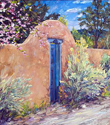 Southwest Gate Painting - Santa Fe Splendor by Steven Boone